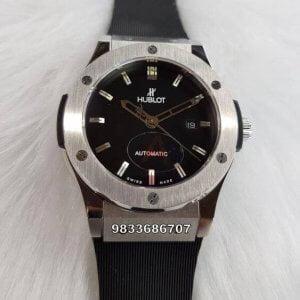 Hublot Classic Fusion Black Rubber Strap Black Dial Swiss ETA 7750 Valjoux Automatic Watch