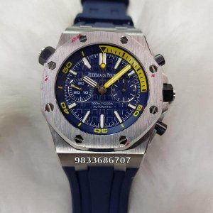 Audemars Piguet Royal Oak Offshore Blue Swiss ETA Caliber 3120 Automatic Watch