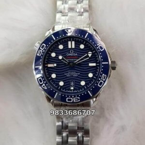 Omega Seamaster Blue Dial Swiss ETA 7750 Valjoux Movement Automatic Watch