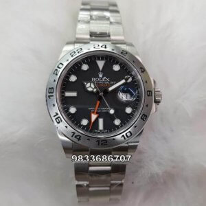 Rolex Explorer 2 GMT Black Swiss ETA 7750 Valjoux Automatic Watch