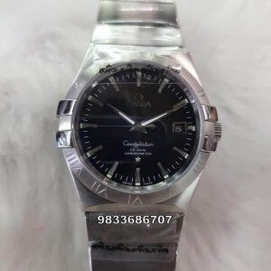 Omega Constellation Double Eagle Steel Swiss ETA Valjoux 2250 Automatic Movement Watch