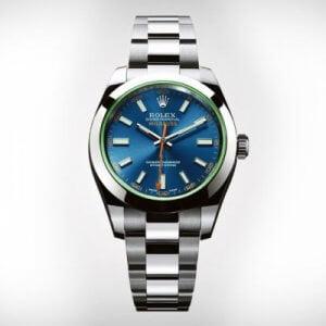 Rolex Milgauss Blue Swiss ETA 7750 Valjoux Movement Automatic Watch
