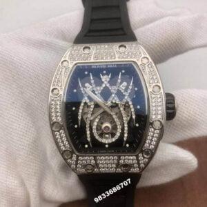 Richard Mille 19-01 Spyder Silver & Diamond Swiss ETA Watch