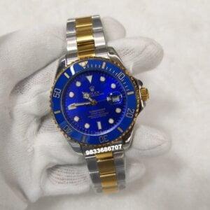 Rolex Submariner Dual Tone Blue Dial Automatic Men's Watch