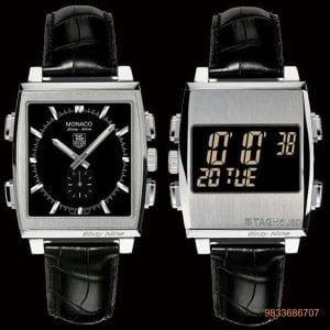 Tag Heuer Monaco 69 Dual Black Dial Chronograph Men's Watch