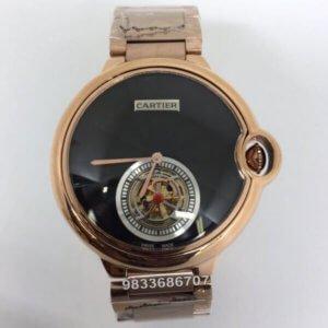 Cartier Ballon Bleu De Flying Tourbillon Swiss Automatic Black Dial Men's Watch
