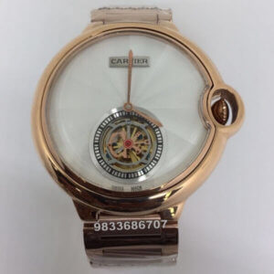 Cartier Ballon Bleu De Flying Tourbillon Swiss Automatic White Dial Men's Watch