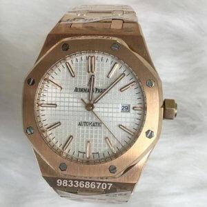 Audemars Piguet Royal Oak White Dial Swiss Automatic Watch