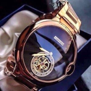 Cartier Ballon Bleu De Flying Tourbillon Swiss Automatic Blue Dial Men's Watch