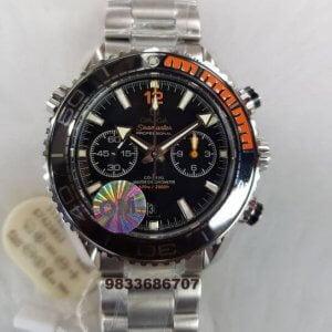 Omega Semaster Planet Ocean Chronograph 2 Swiss ETA 2250 Valjoux Movement Watch