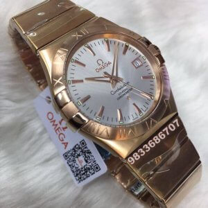 Omega Constellation Double Eagle Rose Gold Swiss ETA Valjoux 2250 Automatic Movement watch