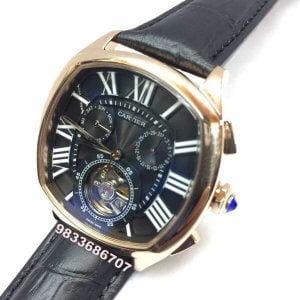 Cartier Day Date Black Tourbillon Swiss Automatic Men's Watch