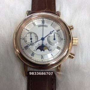 Breguet Classique Chronograph Rose Gold Swiss ETA 7750 Valjoux Automatic Movement Watch