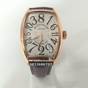 Franck Muller Crazy Hours Color Dreams Brown Strap Automatic Watch