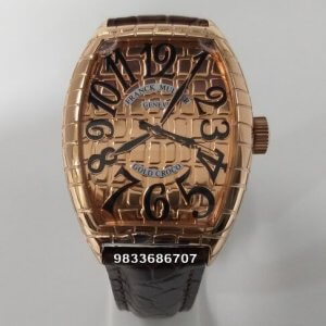 Franck Muller Gold Croco Swiss Automatic Watch