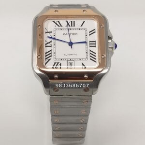Cartier Santos 100 Dual Tone Swiss Automatic Watch