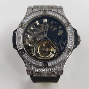 Hublot Bigbang Diamond Skeleton Dial Swiss ETA 2250 Automatic Watch