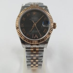 Rolex Date Just Diamond Dual Tone Swiss ETA  2250 Automatic Women's Watch