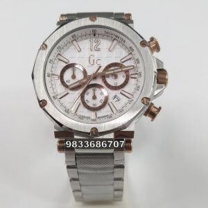 G C Steel Chronograph White Dial Watch
