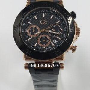G C Black Rose Gold Chronograph Watch
