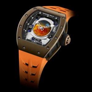 Richard Mille RM 52-05 Orange Rubber Strap Limited Edition Swiss ETA Automatic Watch