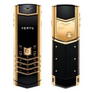 Vertu Signature Gold Black Leather