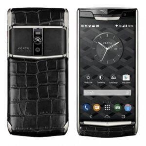 Vertu Signature Touch Black Alligator Silver