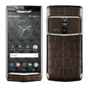 Vertu Signature Touch Cocoa Brown Alligator Silver