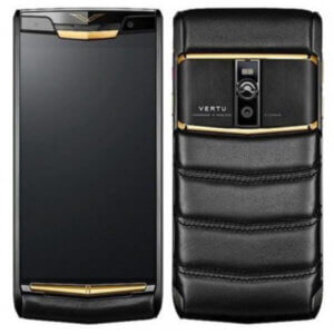 Vertu Signature Touch For Jet Black Red Gold