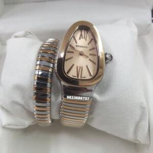Bvlgari Serpenti Dual Tone Gold Dial Women's Watch