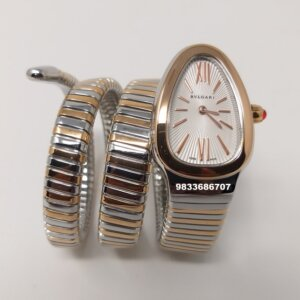 Bvlgari Serpenti Dual Tone White Dial Women's Watch