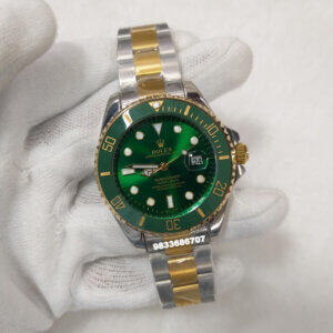 Rolex Submariner Dual Tone Green Dial Swiss Automatic Watch