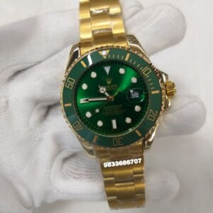 Rolex Submariner Full Gold Green Dial Swiss Automatic Watch