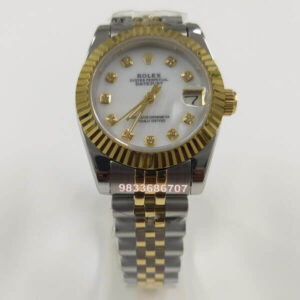 Rolex Date Just Diamond Marker White Dial Automatic Women's Watch