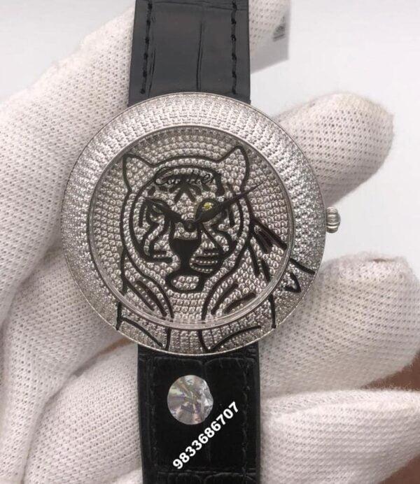 Cartier Panther Face Diamonds Dial Women's Watch