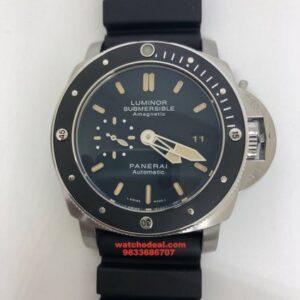 Luminor Panerai Submersible Silver Swiss Automatic Watch