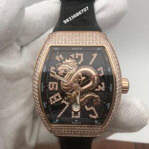 Franck Muller Vanguard Dragon Diamond Black Swiss Automatic Men's Watch