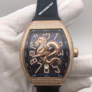 Franck Muller Vanguard Dragon Diamond Blue Swiss Automatic Men's Watch
