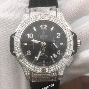 Hublot Big Bang Diamond Silver Black Dial Men's Watch