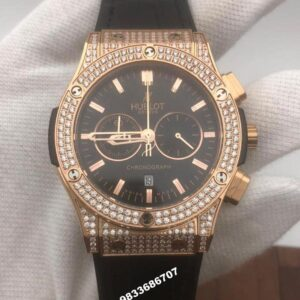 Hublot Classic Fusion Rose Gold Diamond Chronograph Men's Watch