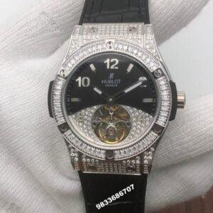 Hublot Tourbillon Solo Bang Sapphires Diamond Swiss ETA 7750 Viljoux Automatic Watch