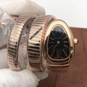 Bvlgari Serpenti Rose Gold Steel Black Dial Women's Watch