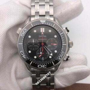 Omega Seamaster Chronograph Black Dial  Men's Watch
