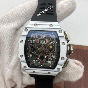 Richard Mille RM 011 Black Rubber Strap Swiss ETA Automatic Watch