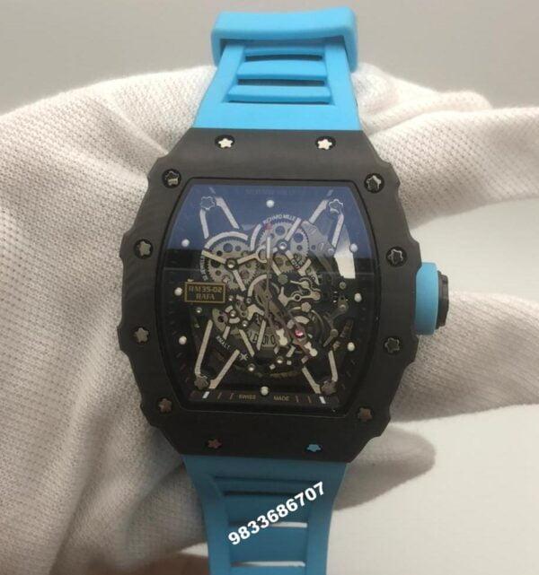 Richard Mille RM 35 01 Rafael Nadel Blue Strap Swiss ETA Automatic Watch