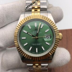 Rolex Date-Just Dual Tone Green Dial Swiss Automatic Watch