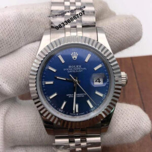 Rolex Date Just Steel Blue Dial Swiss Automatic Watch