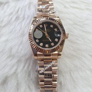 Rolex Date-Just Black Dial Swiss Automatic Women's Watch