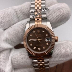 Rolex Date-Just Dual Tone Brown Dial Swiss Automatic Women's Watch