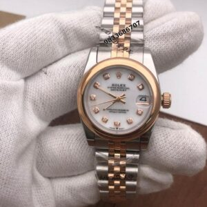 Rolex Date-Just Dual Tone White Dial Swiss Automatic Women's Watch